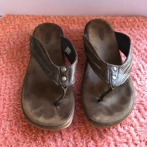 Keen Women Leather Sandal Brown Size 9